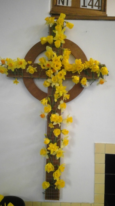 Easter daffodil cross of remembrance